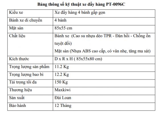 Bảnh thông số PT-0096C