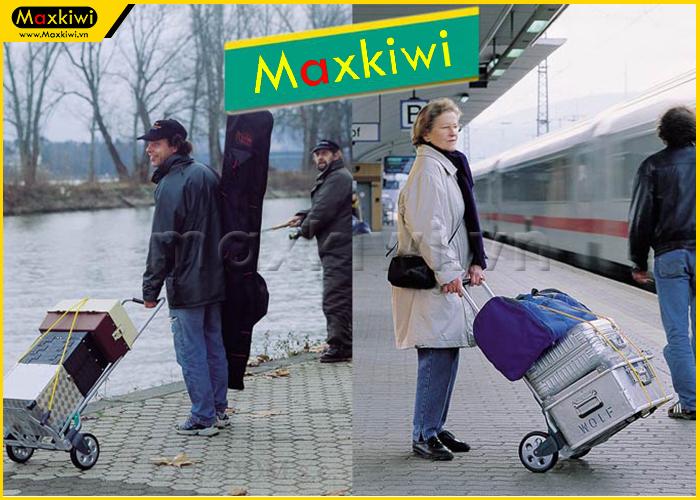 Xe đẩy hàng nhỏ gọn hỗ trợ vận chuyển hành lý