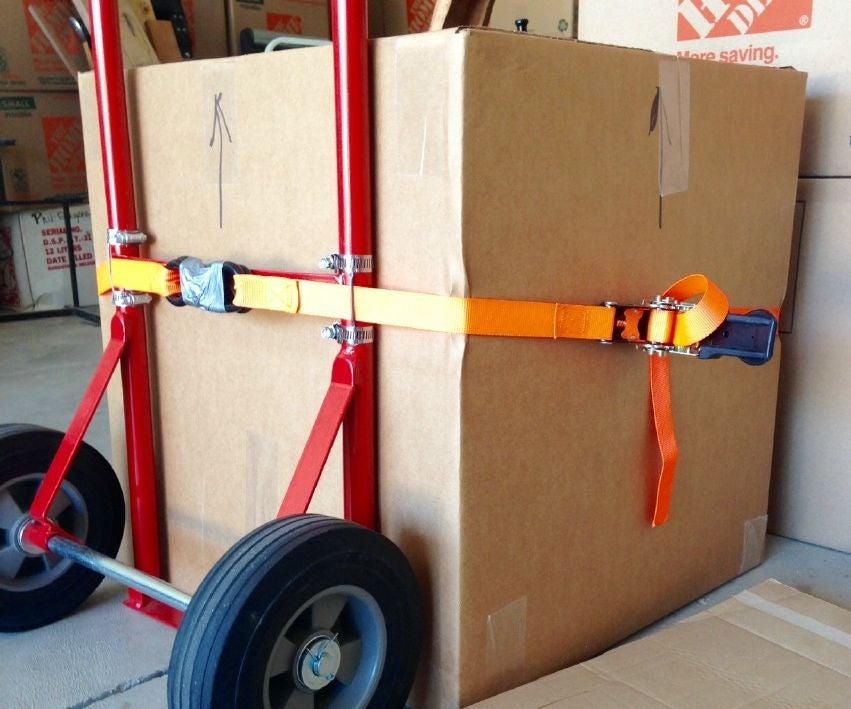 Nên buộc hàng hóa kỹ càng trước khi vận chuyển